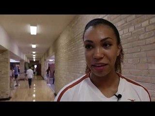 Ebony Nwanebu at Texas Volleyball's Orange White Scrimmage