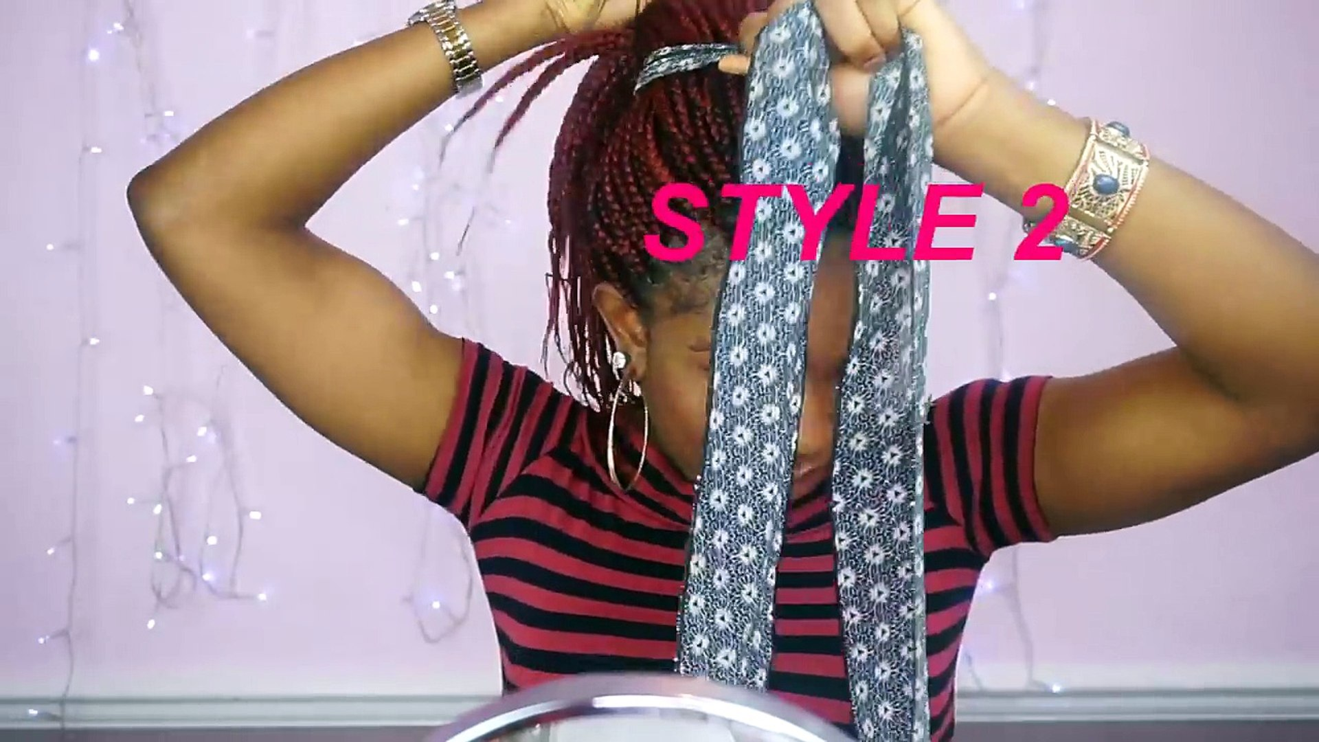How To Style Box Braids/6 Quick And Unique Styles