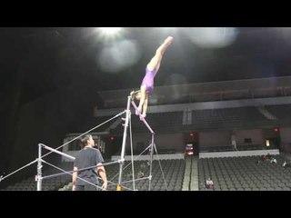 Alyona Shchennikova Full Bar Routine   2017 U.S. Classic Podium Training