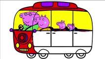 Vélos coloration porc clin doeil sur russe Peppa Pig Coloring vélo Peppa