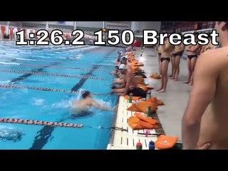 Andrew Wilson's 1:26.2 150 Breaststroke