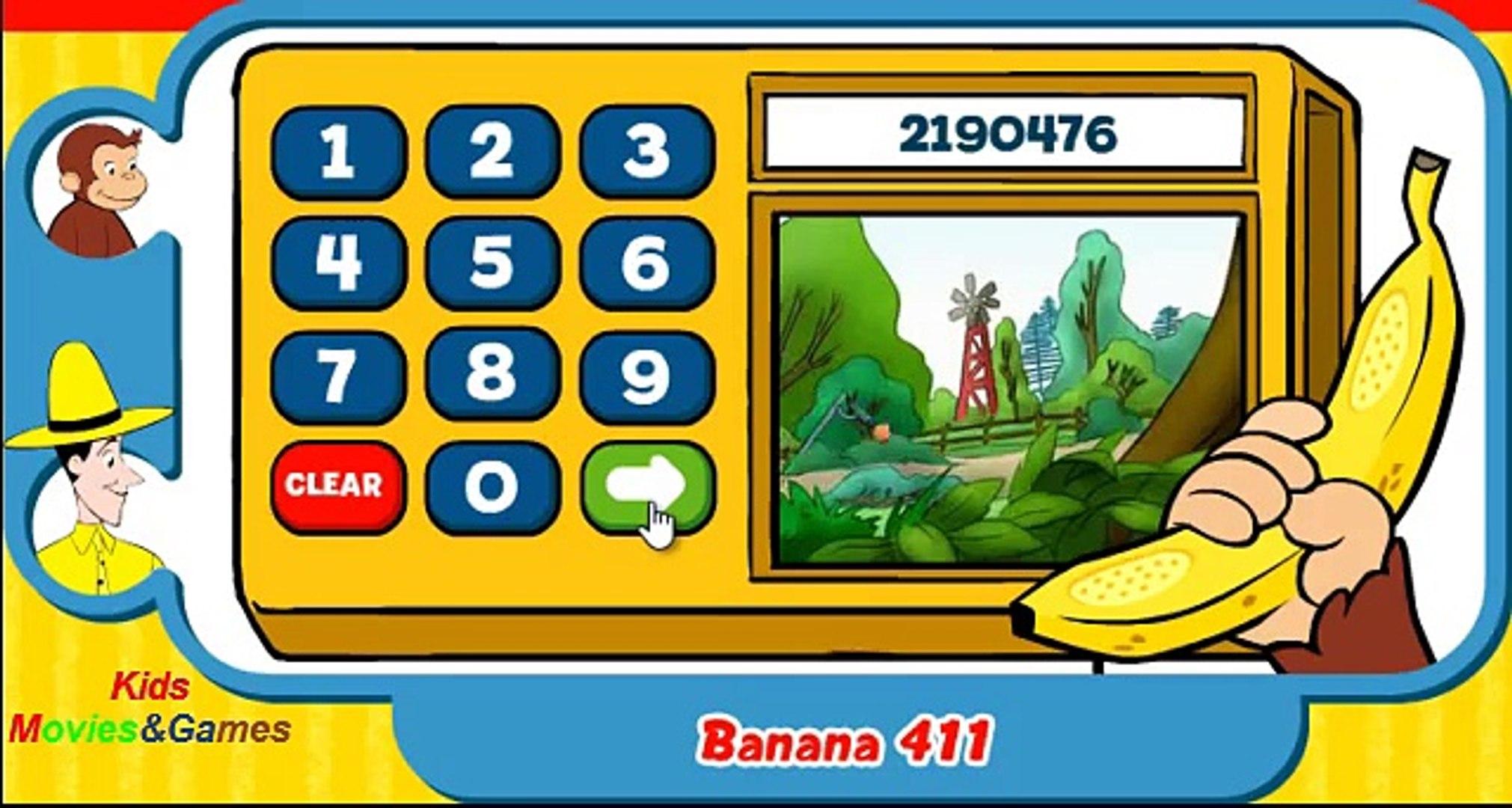 Curious George Banana 411 Kids Education Games Movies