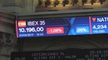El Ibex amplía las caídas al mediodía y pierde los 10.200 puntos