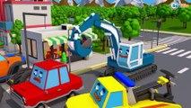 Pequeno Trator Сaminhão e o Retroescavadeira! Video para criançinhas - Desenhos Animados