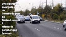 Ralentissements sur le périphérique lyonnais après une opération escargots partie de Gerland