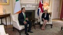 May meets Ireland's Leo Varadkar to discuss Brexit plans