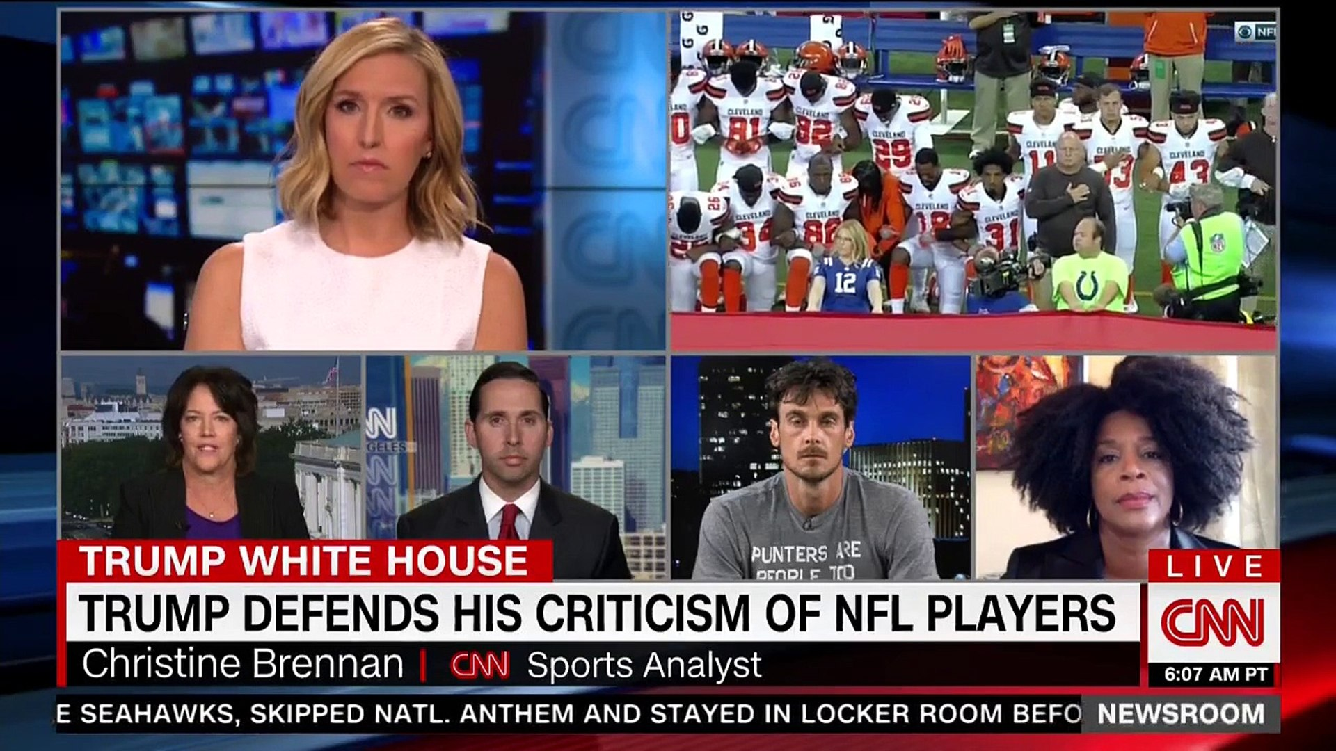 Conservative pundit claims NFL owners only supported black players because they'd 'riot