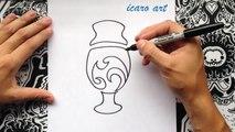 Como dibujar el logo de la copa america centenario | how to draw cup america