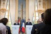 Déclaration conjointe du Président de la République, Emmanuel Macron, et du Général Michel Aoun, Président de la République libanaise.