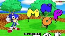 ABC Song -Sonic Cartoon Pre kindergarten school Songs | Nursery Rhymes Preschool Songs |