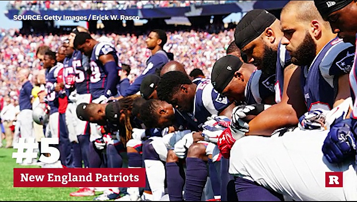 Top 5 NFL teams with kneeling players | Rare News
