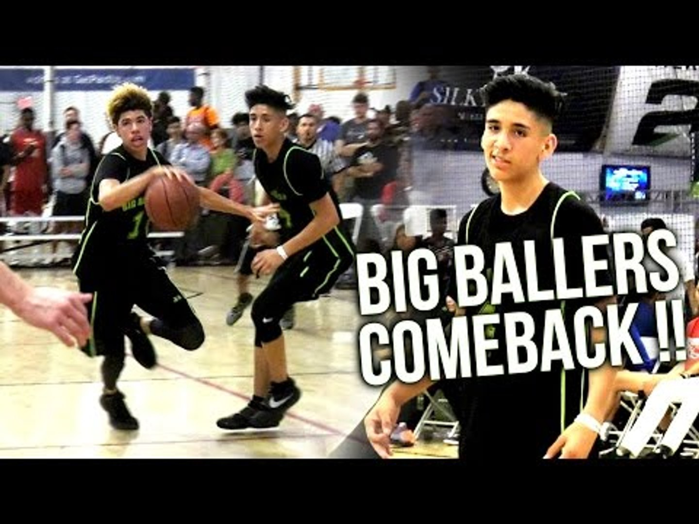 LaMelo Lets Teammates BALL OUT! #4 Will Pluma ON FIRE! Big Ballers 20 Point COMEBACK AAU WIN!