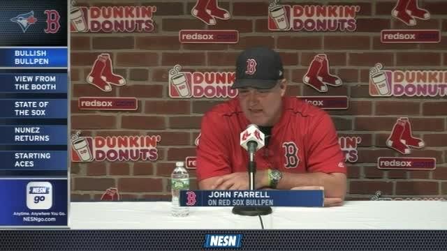 Red Sox Gameday Live: John Farrell Praises Red Sox's Bullpen