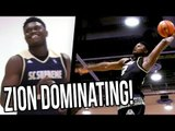Zion DROPPED?!? Zion Williamson HAMMER Dunk & THROWING Shots To The STANDS + Devon Dotson EATING!