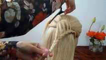 Easy and Quick Heart Braid Hairstyle. Back To School Hairstyles. Penteados