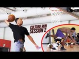 THE CULTURE RUN: Cassius Stanley STUPID Dunks Training With Pros! Kid Gets DROPPED! (SESSION 2)