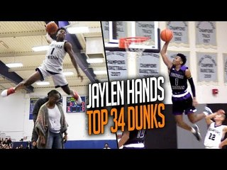Jaylen Hands TOP 34 Senior Year DUNKS + BLOOPERS  UCLA's New PG Has ULTRA BOOST!