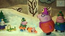 Свинка Пеппа Холодный зимний день Горка Peppa Pig Cold Winter Day