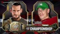 John Cena vs CM Punk Campeonato WWE | Raw 1000 Latino ᴴᴰ