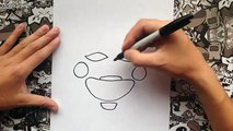 Como dibujar a the puppet o la marioneta de five nights at freddys | how to draw the puppet