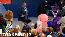 TD JAKES-#At church youre being armed w/weapons that are not carnal, to fight the enemy on his tu