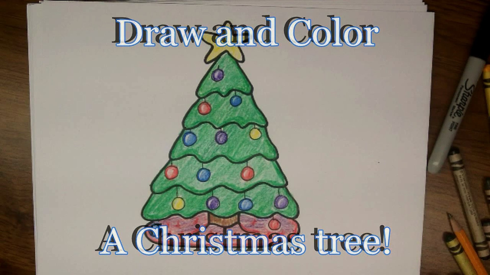 """Drawing How To Draw A Cute Cartoon Christmas Tree Easy Step By Step Drawing Lesson ŋ•ç""""» Dailymotion Learn how to draw a santa sheep and a christmas tree cartoon style. dailymotion"""