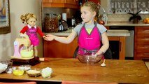 AMERICAN GIRL DOLL: Baking Chocolate Chip Cookies Recipe with American Girl Grace Funny Movie Comedy
