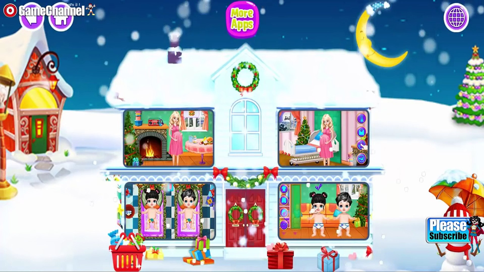 Little Santa Baby For Kids Educational Education Videos games for Kids - Girls - Baby Android