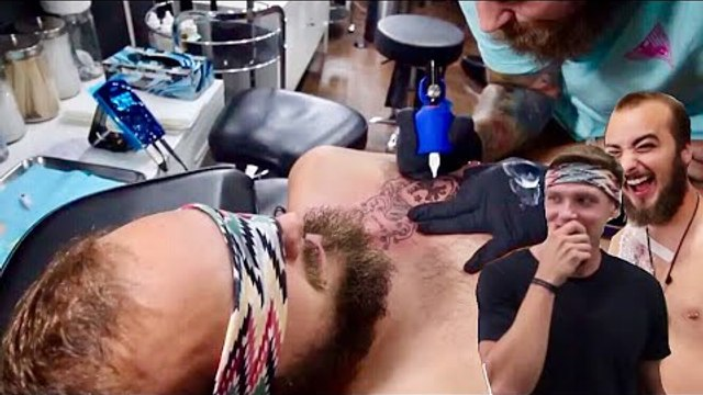 Friends Tick Off Bucket List With Blindfolded Tattoos