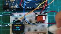 Arduino Project: Breathalyzer using MQ3 alcohol sensor 0.96 128x64 OLED display on Arduino Mega