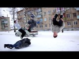 Russia + winter = something crazy. Daredevil youths show off cool outdoor stunts