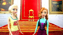 Frozen Elsa dates Thor, Hans wants to marry Elsa, with Anna and Belle dolls. Parody.