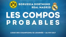Les compos probables de Dortmund - Real Madrid