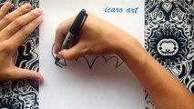 Como dibujar el logo de Batman | how to draw batman