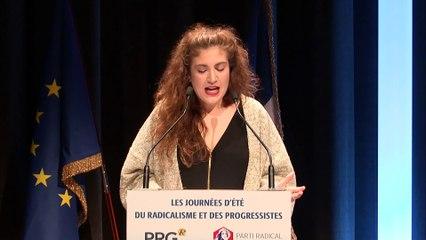 Discours d'Anne-Sophie PALA MASSONI, Présidente des Jeunes Radicaux - Journées d'été du Radicalisme et des Progressistes