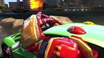 Un et un à un un à et autobus les autobus des voitures couleur amusement amusement sur fête homme araignée le le le le la roues avec Hulkbuster mcqueen superhe