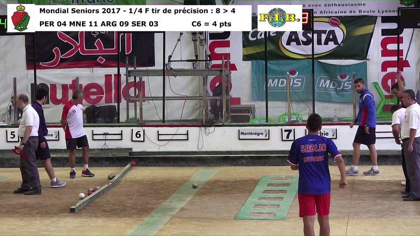 Quarts de finale du tir de précision, Mondial Seniors, Casablanca 2017