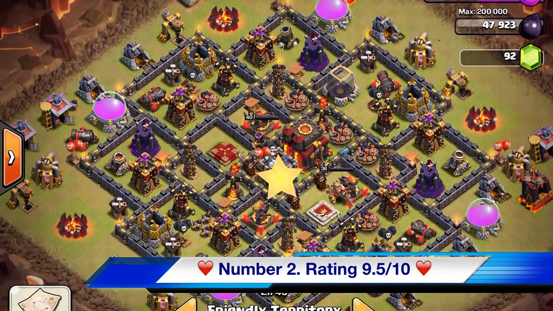 BEST Town Hall 10 Base Design for Clash of Clans - Top 5 th10 war base