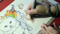 Speed Drawing OKAMI - Amaterasu, fluffy and chubby!