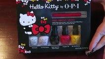Hello Kitty Nail Art Tutorial & OPI Hello Kitty Friend Pack Review