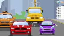 La Dépanneuse et la Voiture de course la Ville | Voitures et camions dessins animés