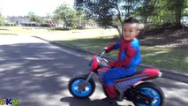 Spiderman Bike 6V Battery Powered Ride On Electric Motorcycle Toys Unboxing With Venom And CKN Toys