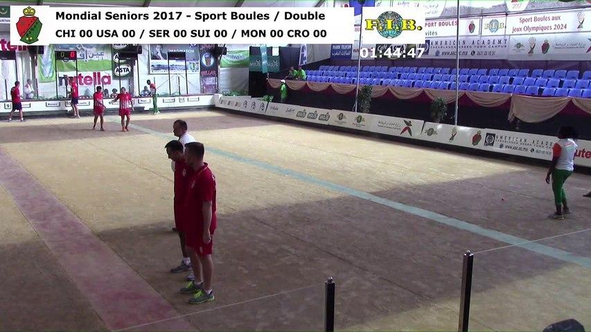 Seconde phase 2 du double, Mondial Seniors, Casablanca 2017