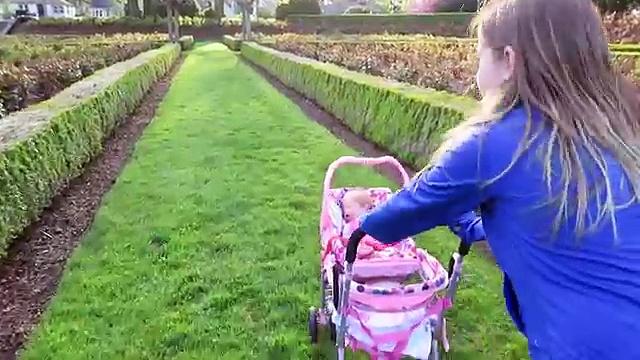 Reborn Baby Doll at the Park in Joovy Doll Stroller