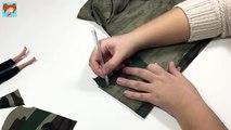 Barbie Kamuflaj Ceket Yapımı Kendin Yap Barbie Bebek Kıyafetleri Oyuncak Yap