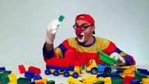 Videos for Kids - LEGO Car Clown CLONE! Childrens Toy Trucks Videos (автомобиль клоун)