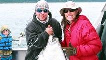 Halibut Fishing in ALASKA! Family Fun Vacation Superhero Family Wyatt Catches a SHARK!