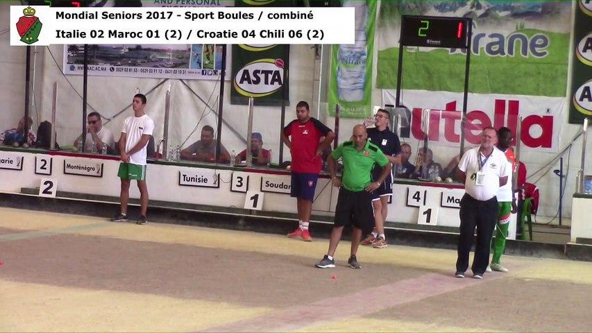 Seconde phase du combiné, Mondial Seniors, Casablanca 2017