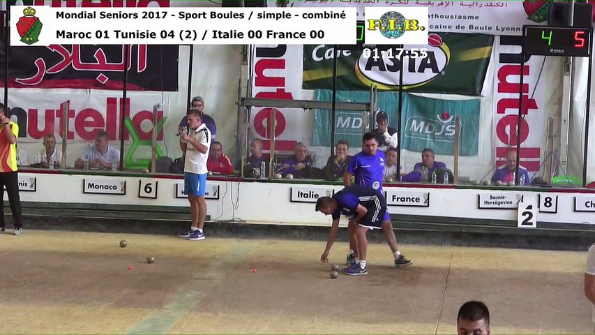 Barrages du simple, Mondial Seniors, Casablanca 2017