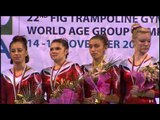 Women's Double-Mini Award Ceremony - 2013 World T&T Championships